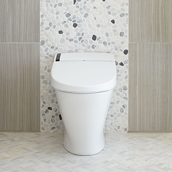 DXV AT200 Integrated Bidet Smart Toilet Room Scene- Canvas White