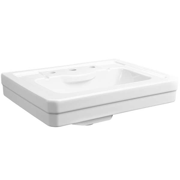 24 Inch Pedestal Sink : Fitzgerald 24 Inch Pedestal Bathroom Sink- Three Faucet Holes