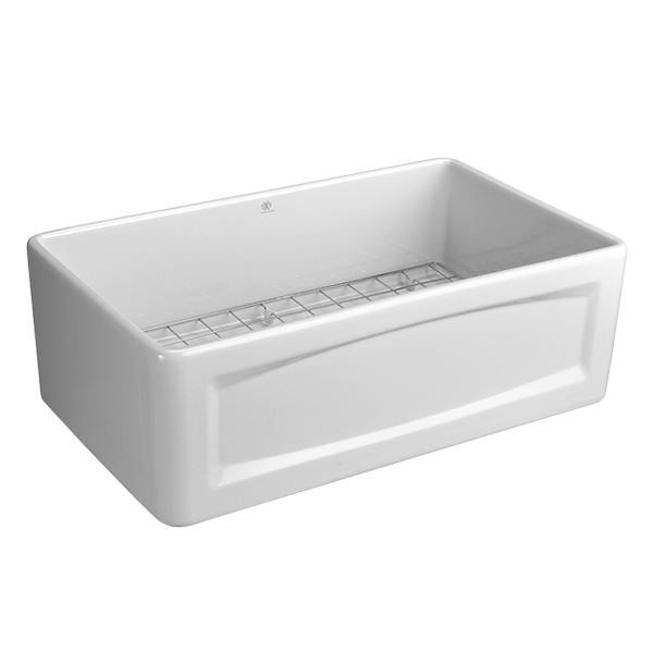 Apron Sink 30 : Kitchen Farm Sink - Hillside 30 inch wide Apron Kitchen Sink from DXV