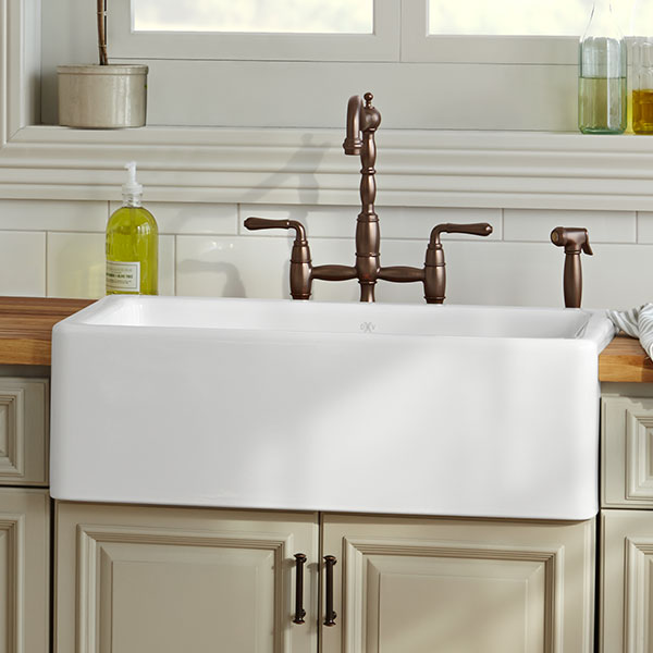 Kitchen Farm Sink - Hillside 30 inch kitchen sink from DXV