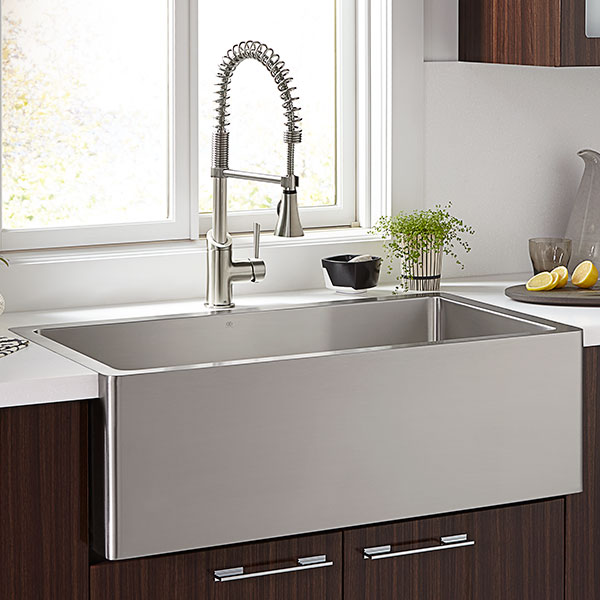 Kitchen Farm Sinks- Hillside 30 Inch Wide Stainless Steel Kitchen