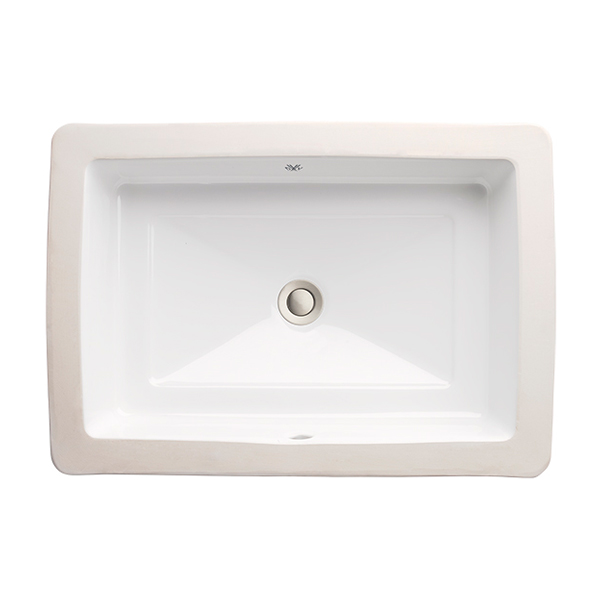 Pop Rectangle Under Counter Bathroom Sink