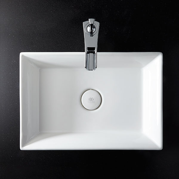 Modern bathroom sinks and faucets - Vessel Bathroom Sink Pop Rectangle Vessel Lavatory From Dxv