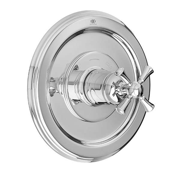 Randall 1/2 Inch or 3/4 Inch Thermostatic Valve Trim with Cross Handle