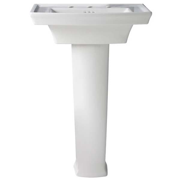 Wyatt 24 Inch Pedestal Bathroom Sink