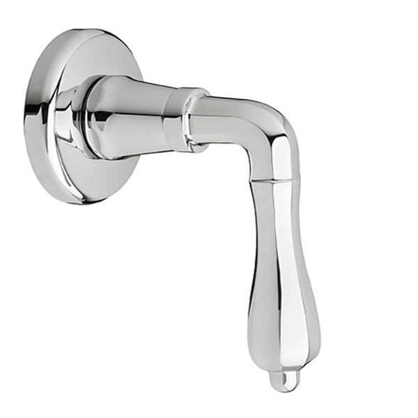 DXV Ashbee 1/2 Inch or 3/4 Inch Wall Valve Trim with Lever Handle - Polished Chrome