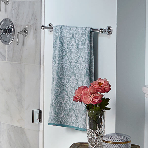 DXV Ashbee 24 Inch Towel Bar Room Scene- Polished Chrome