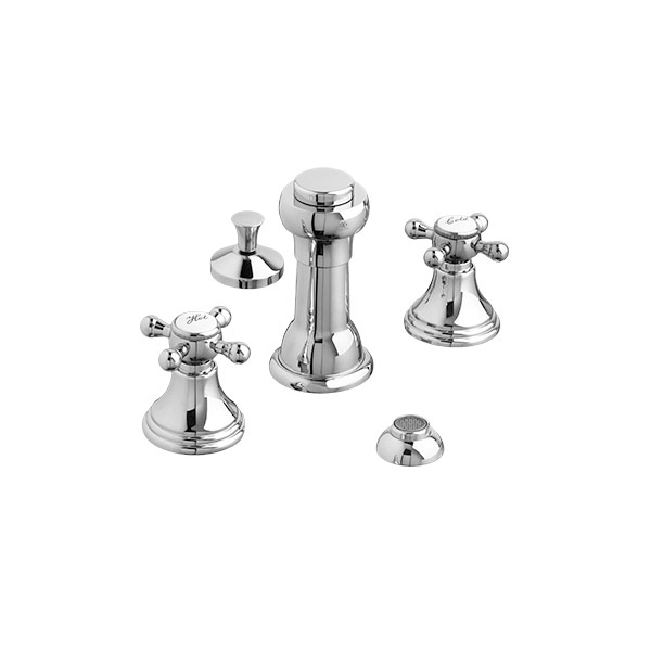 Ashbee Bidet Faucet with Cross Handles