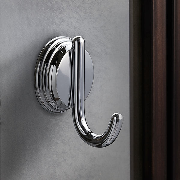 DXV Ashbee Robe Hook Room Scene- Polished Chrome