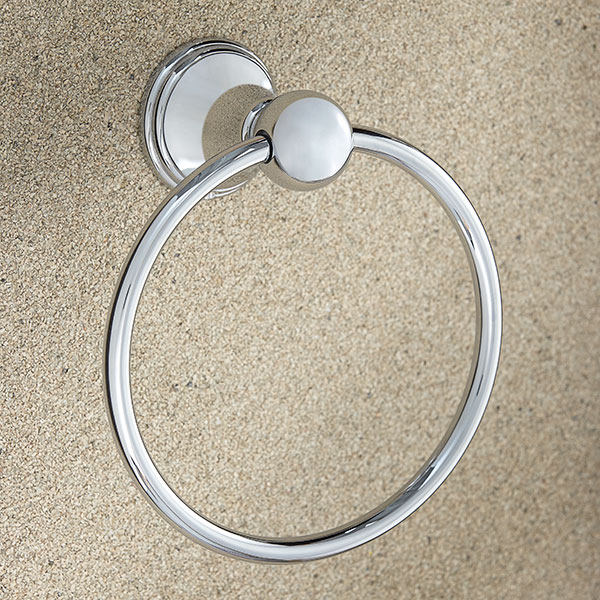 DXV Ashbee Towel Ring- Polished Chrome