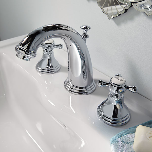 Widespread Bathroom Faucets- Ashbee Lavatory Faucet with Cross ...