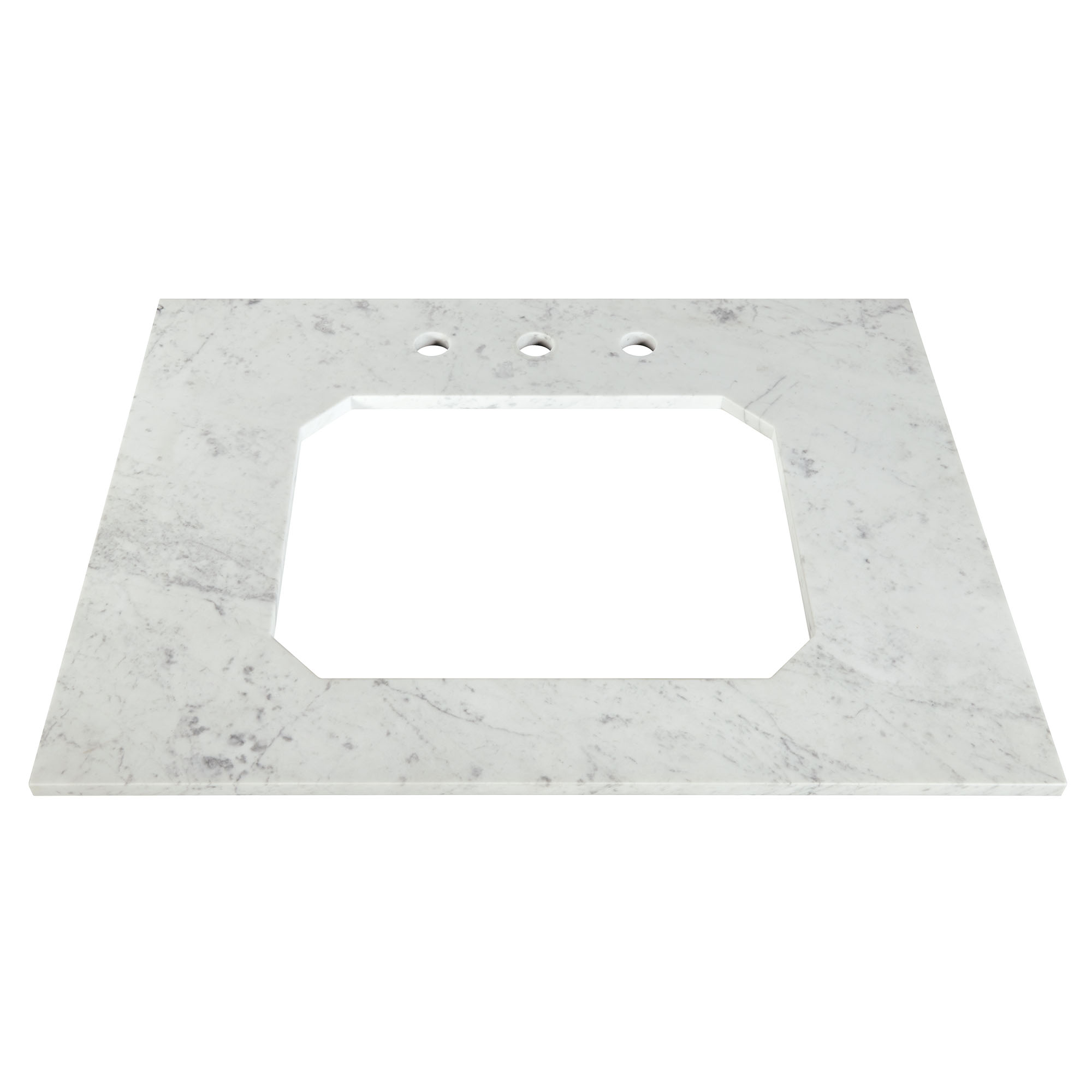Belshire 30-inch Carrara Marble Vanity Top - Three Holes