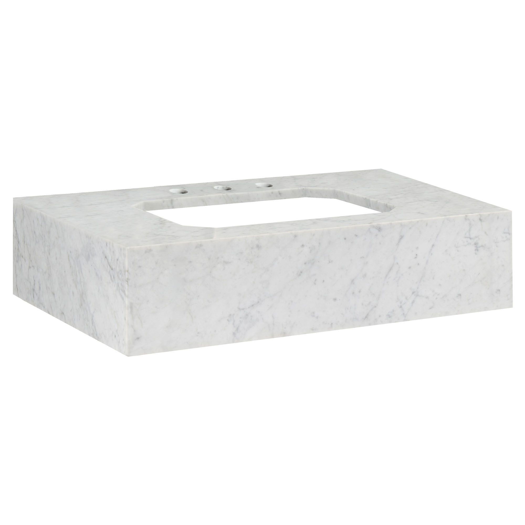 Belshire 30in Carrara Marble Vanity Console - 3 holes