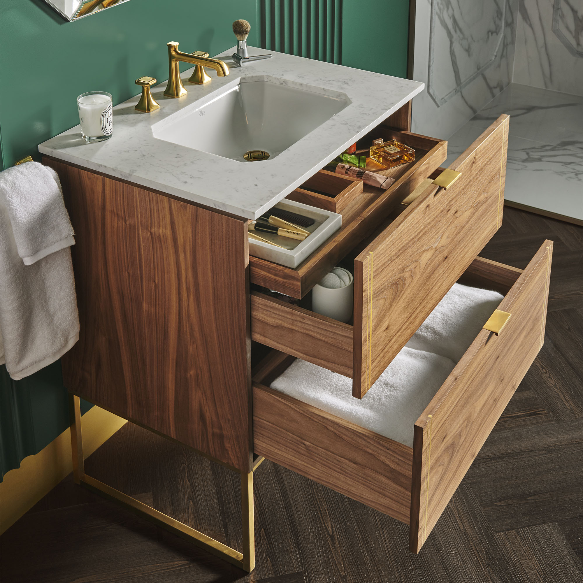 BELSHIRE 30-INCH TWO-DRAWER VANITY WITH HIDDEN DRAWER