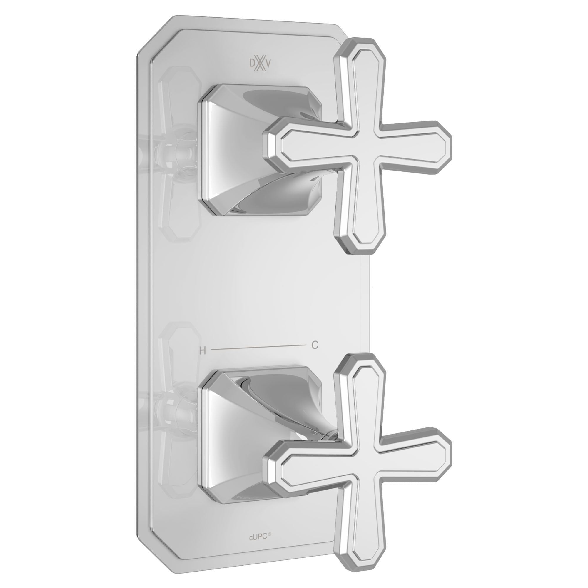 Belshire Two-Handle Thermostatic Valve Trim with Cross Handles