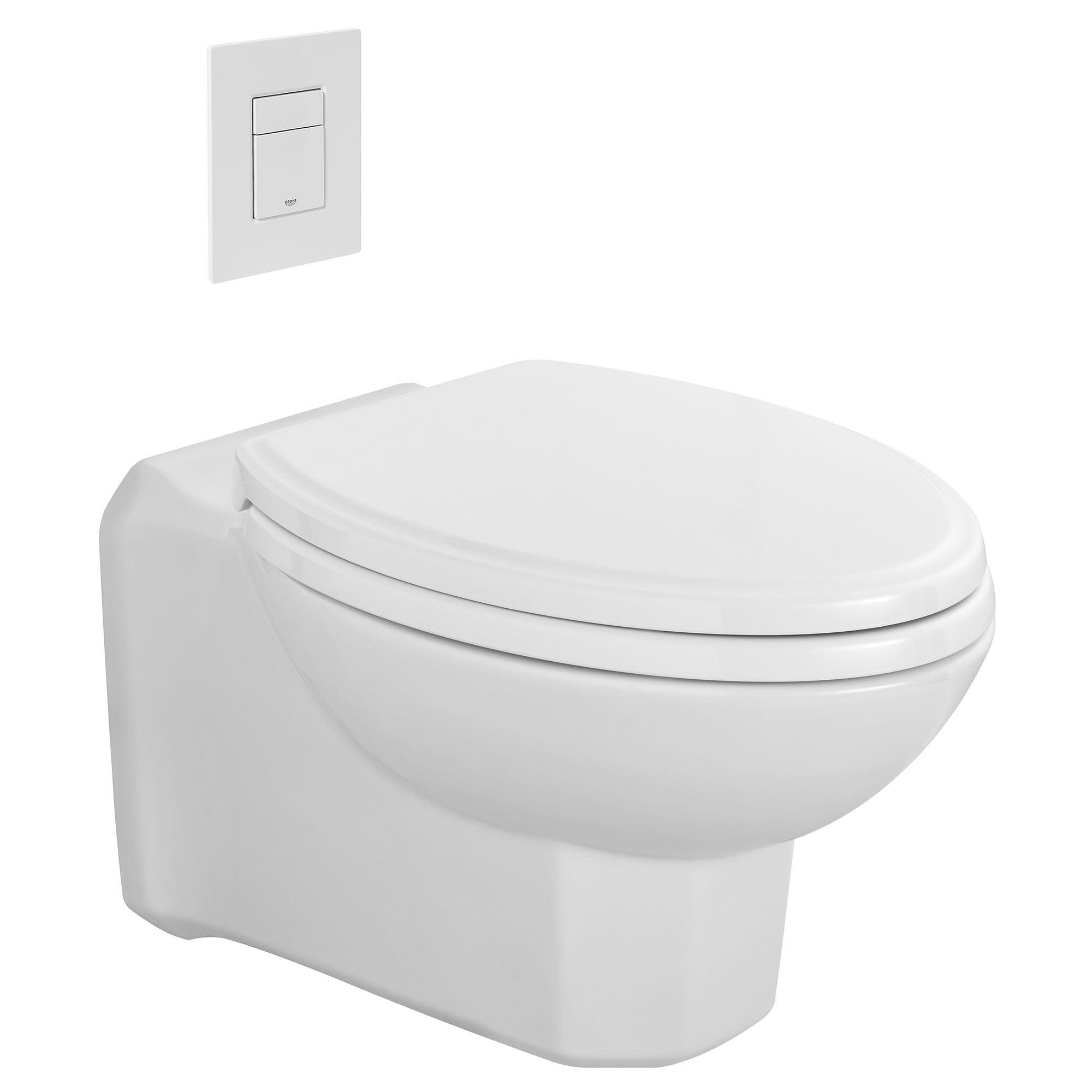 Belshire Wall Hung Dual Flush Toilet With Seat