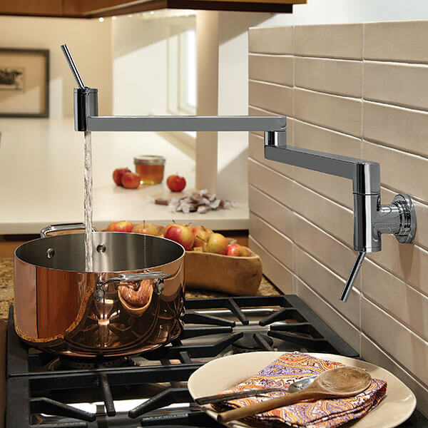 Pot Fillers- Contemporary Pot Filler Kitchen Faucet from DXV