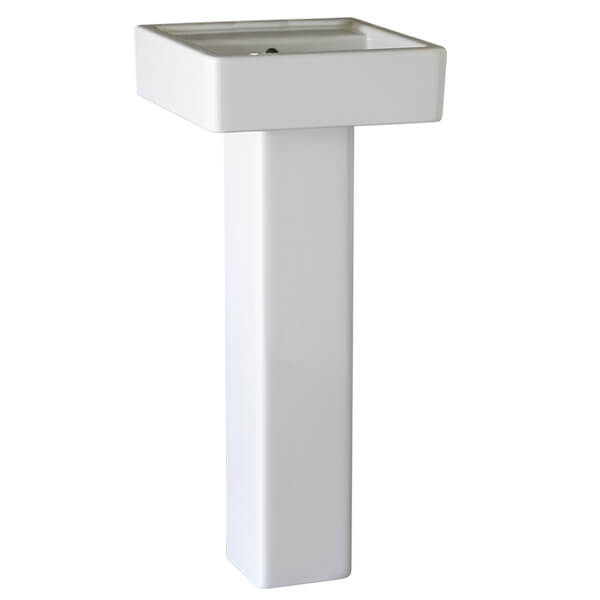 Cossu 16 Inch Square Pedestal Bathroom Sink