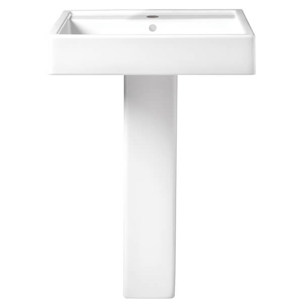 Cossu 24 Inch Pedestal Bathroom Sink- Single Faucet Hole