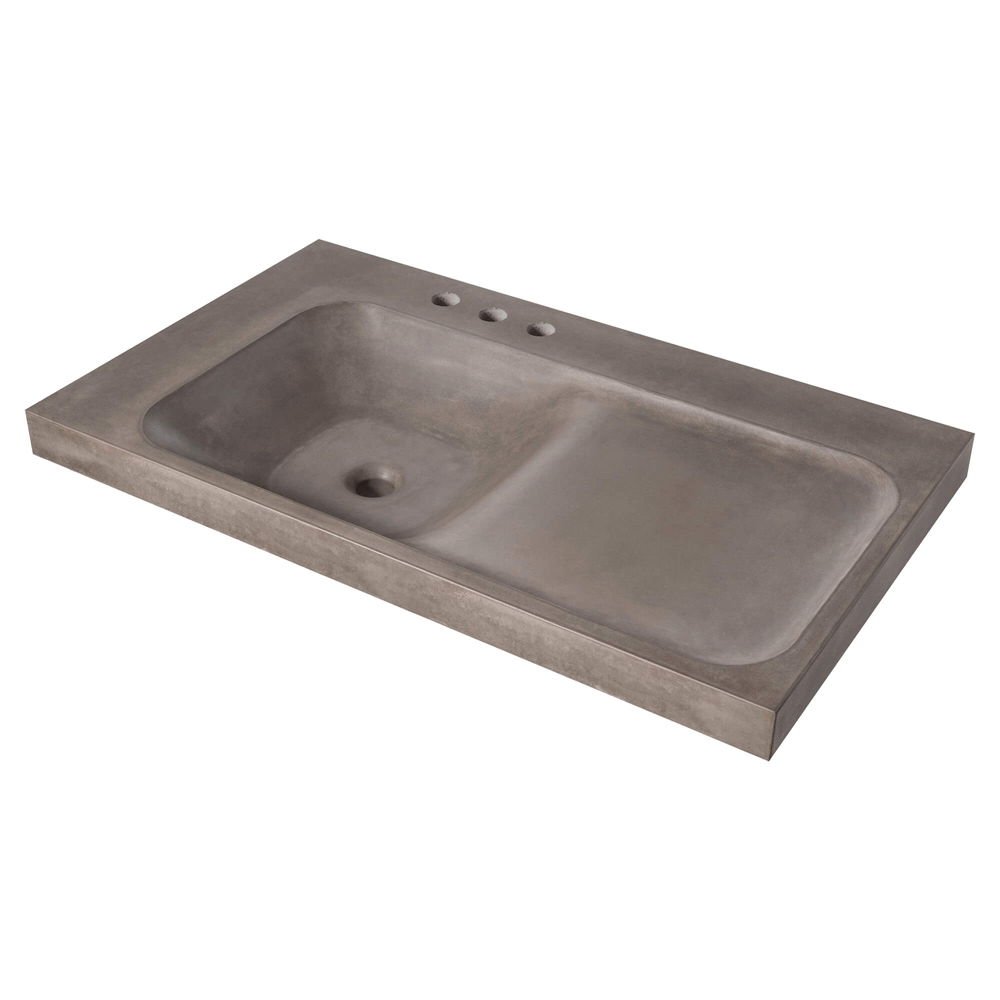 DXV Modulus 36-inch Three-Hole Concrete Bathroom Sink