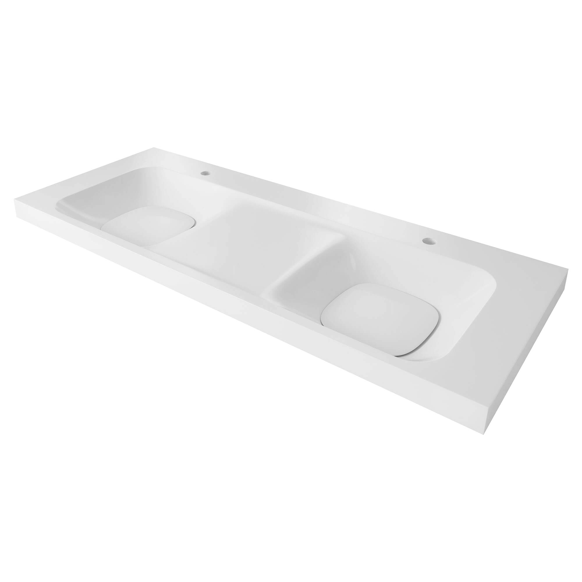 DXV Modulus 55-inch Two Single-Hole Double Bathroom Sink