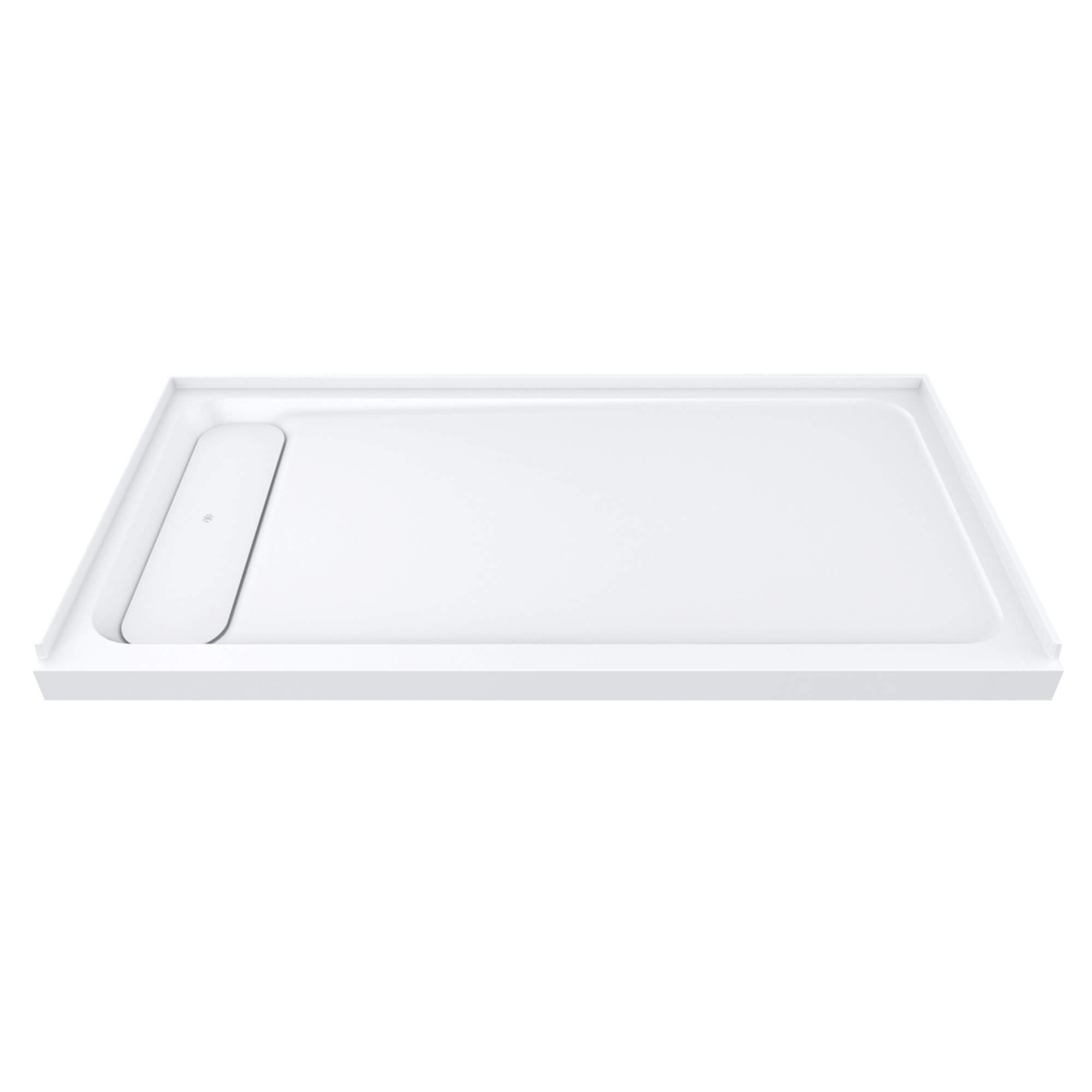 "DXV Modulus 60"" x 32"" Solid Surface Shower Base – Left Drain"