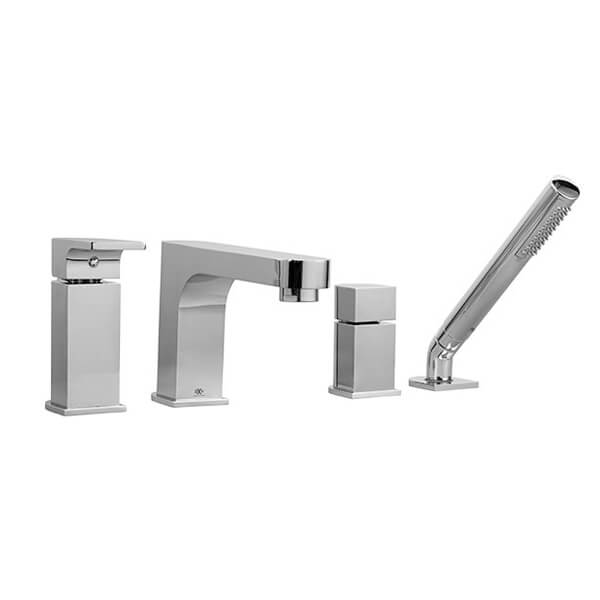 Equility Deck Mount Bathtub Faucet with Hand Shower