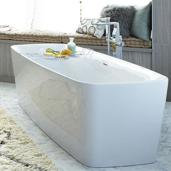 Equility Freestanding Soaking Tub Room Scene- Canvas White