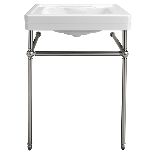 DXV Fitzgerald Console Bathroom Sink- Canvas White, Polished Chrome