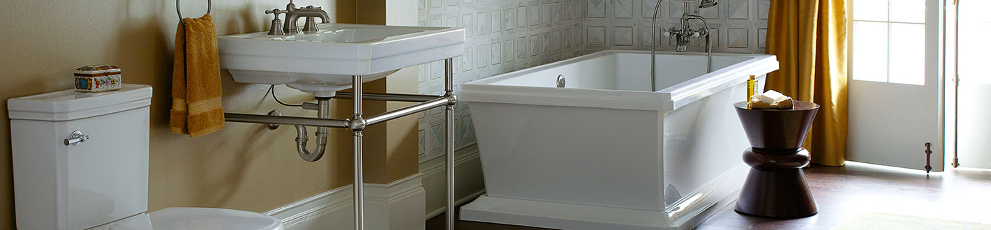 DXV Fitzgerald Console Bathroom Sink Banner