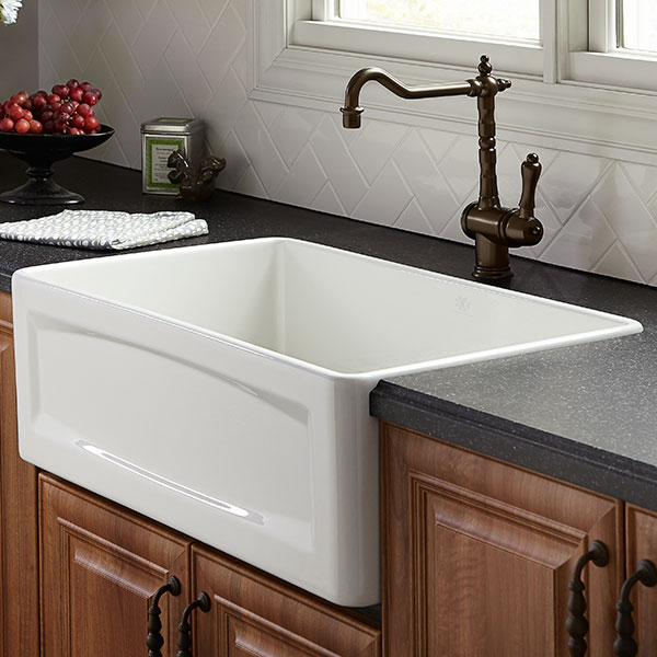 Kitchen Farm Sink - Hillside 30 inch wide Apron Kitchen Sink from DXV