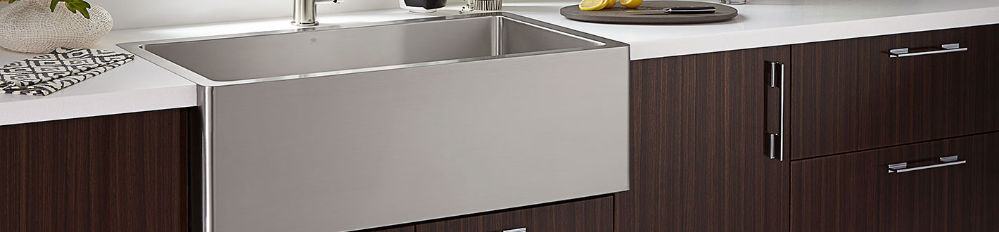 Kitchen Farm Sinks- Hillside 36 Inch Wide Stainless Steel Kitchen