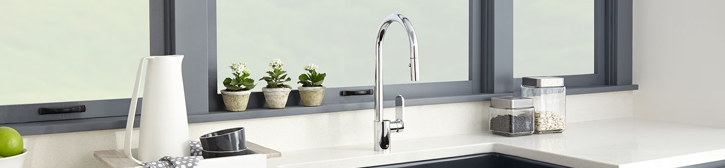 down pull product banner faucets from kitchen isle dxv by faucet