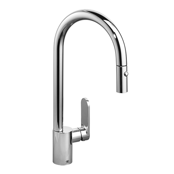 DXV Isle Pull-Down Kitchen Faucet- Polished Chrome