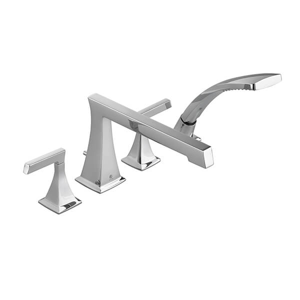 Keefe Water Saving Deck Mount Bathtub Faucet with Hand Shower