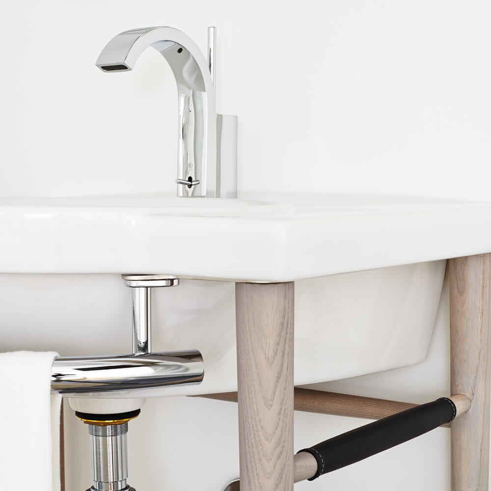 "Lowell 26"" Wood Console Sink - Graphite"