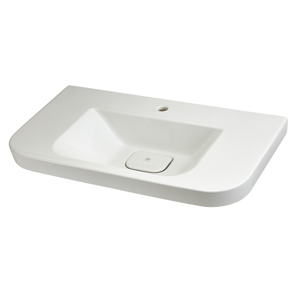 DXV Equility 33 Inch Wall-Hung Trough Bathroom Sink- Canvas White