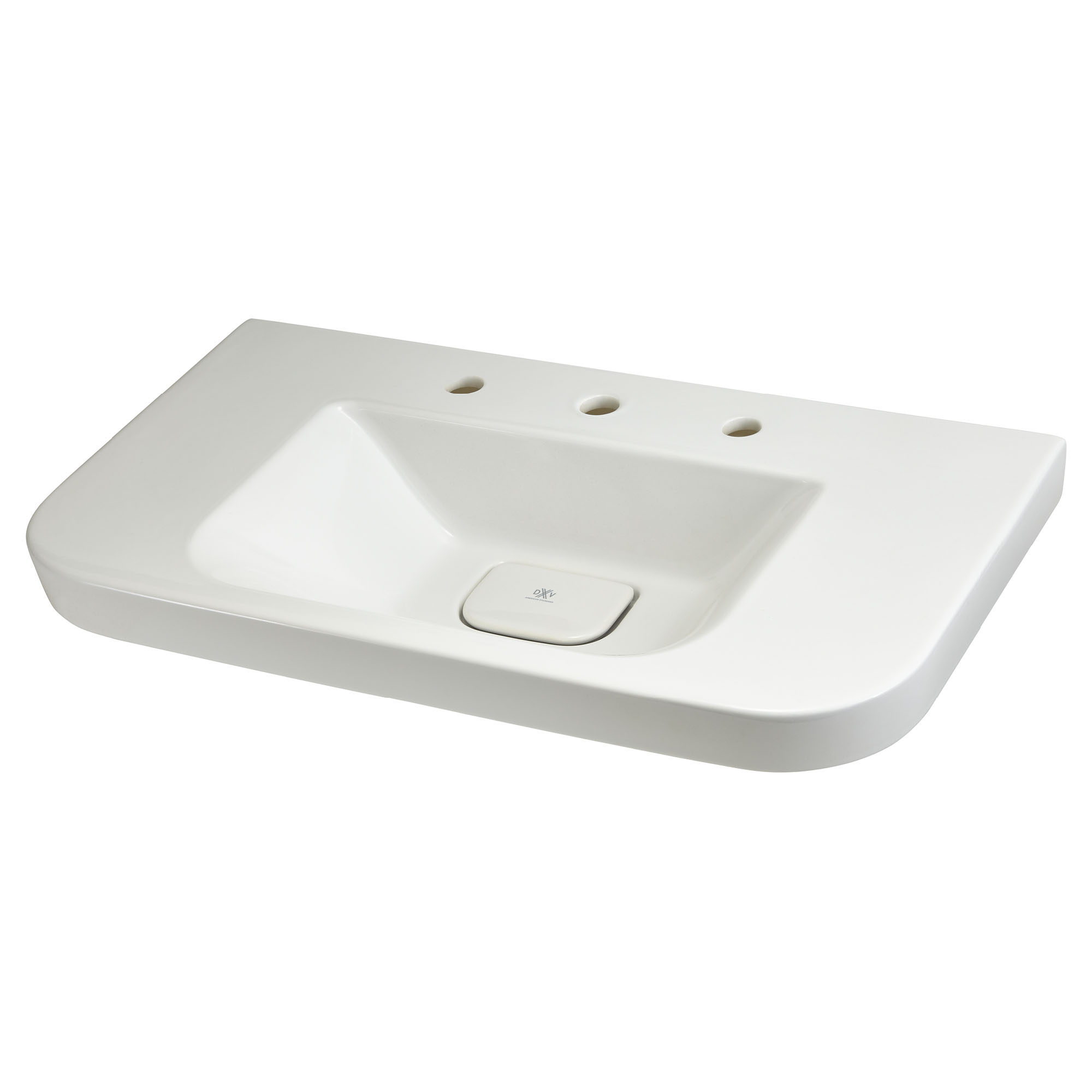 Lyndon 33 Inch Wall- Mount Bathroom Sink – Three Faucet Holes