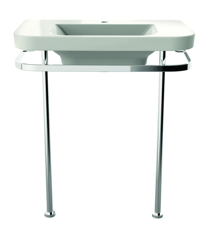 Equility Console Sink - Canvas White/Polished Chrome