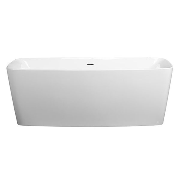 Lyndon Slim Freestanding Soaking Tub From DXV - Rectangular freestanding soaking tub
