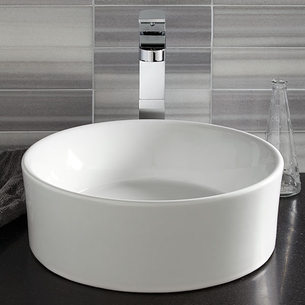 DXV Lyndon Vessel Faucet Room Scene- Polished Chrome