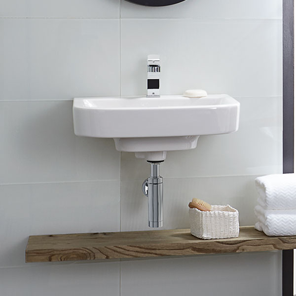 DXV Equility Wall-Hung Bathroom Sink Room Scene- Canvas White