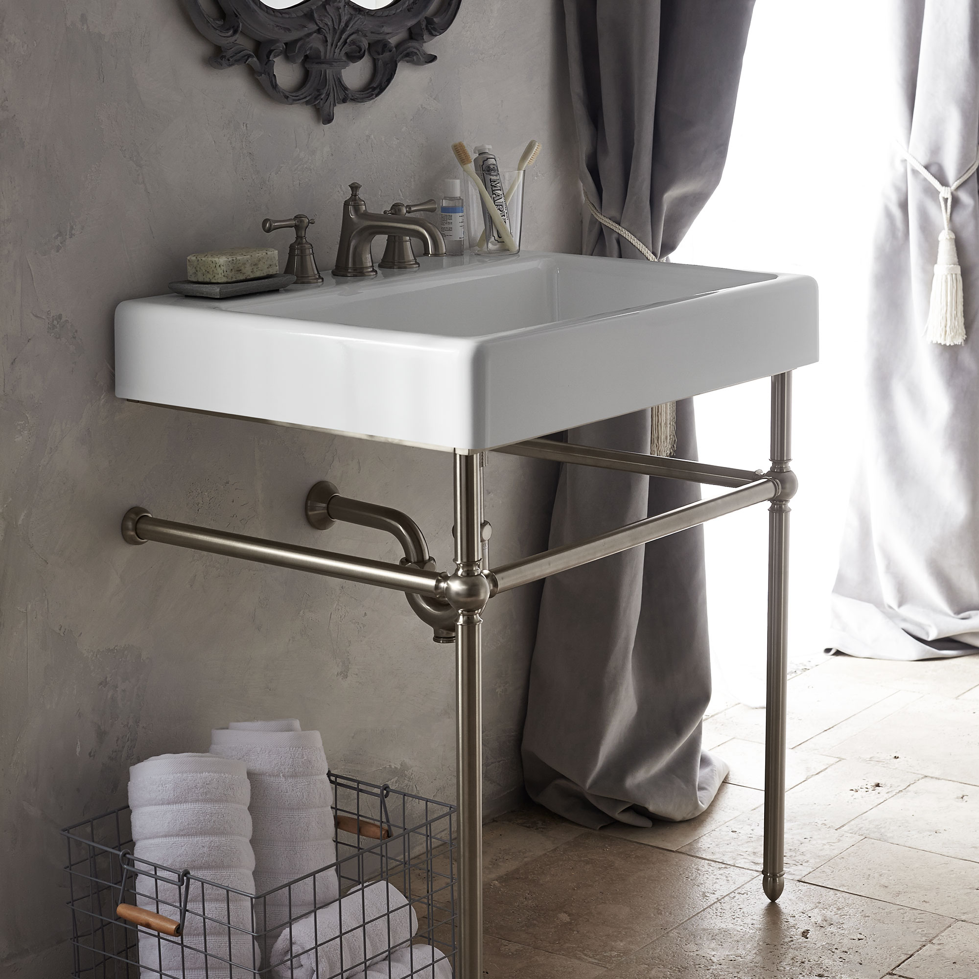 bathroom console sinks oak hill classic bathroom collection from dxv 10485