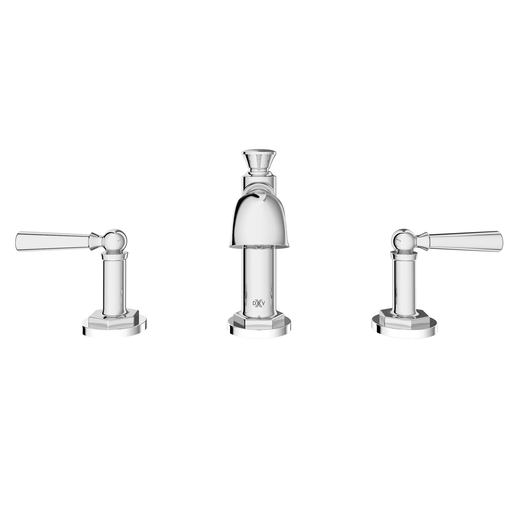 Oak Hill High Spout Widespread with Lever Handles in Polished Chrome