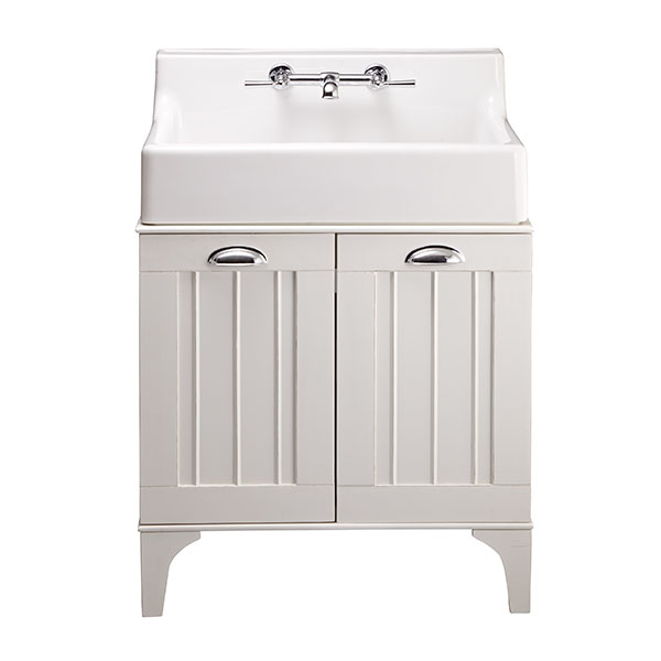 Oak Hill White Bathroom Sink With Vanity  DXV