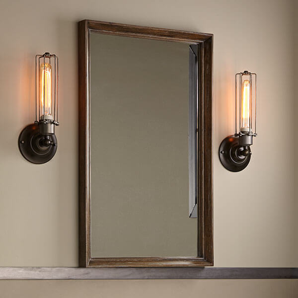 DXV Oak Hill Mirror Room Scene - Weathered Oak