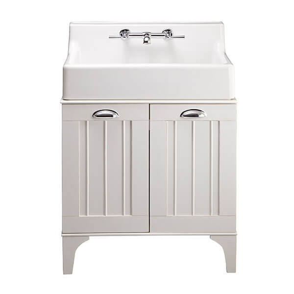 Oak Hill White Bathroom Sink with Vanity