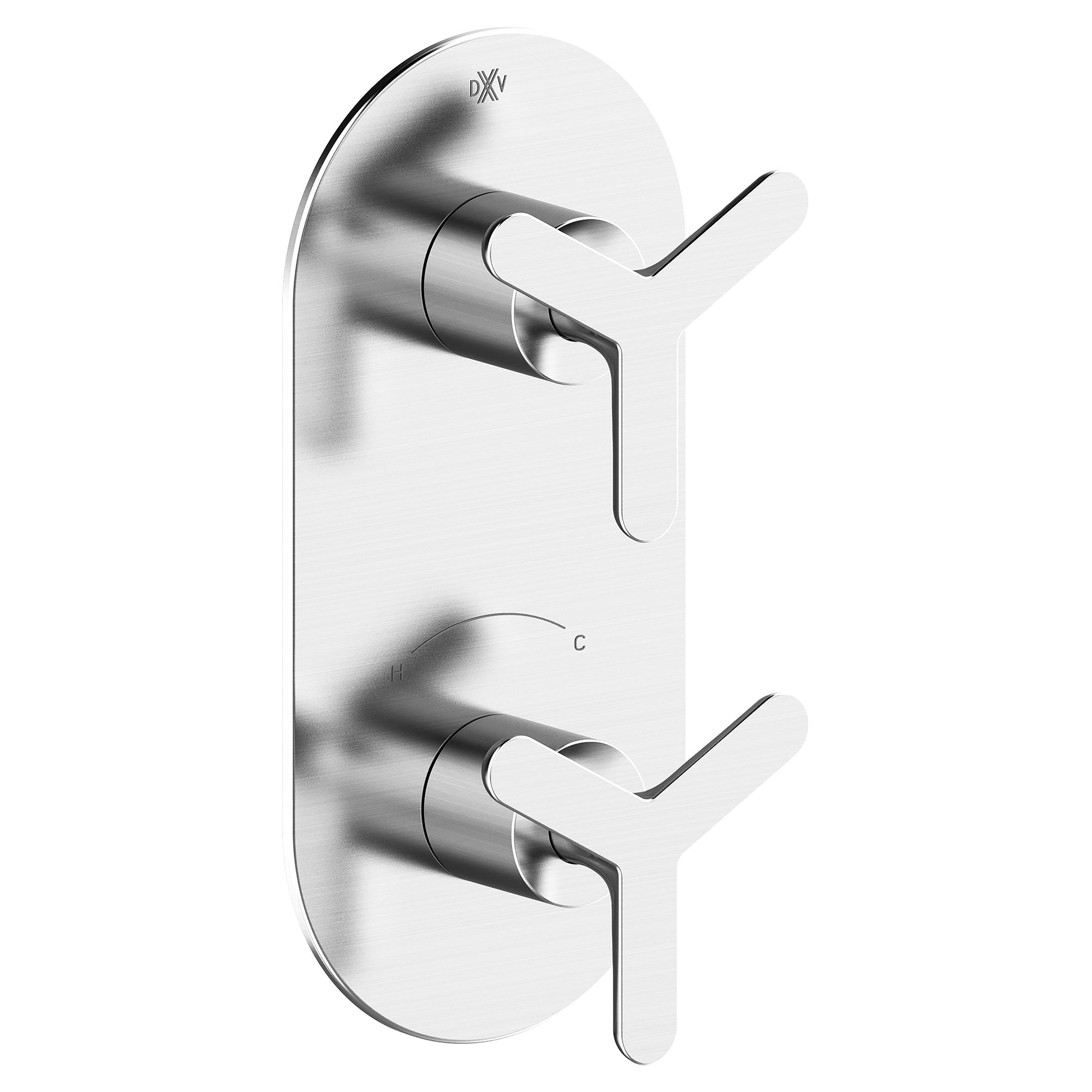 Percy 2-Handle Thermostatic Shower Valve Trim with Tri-Spoke Handles