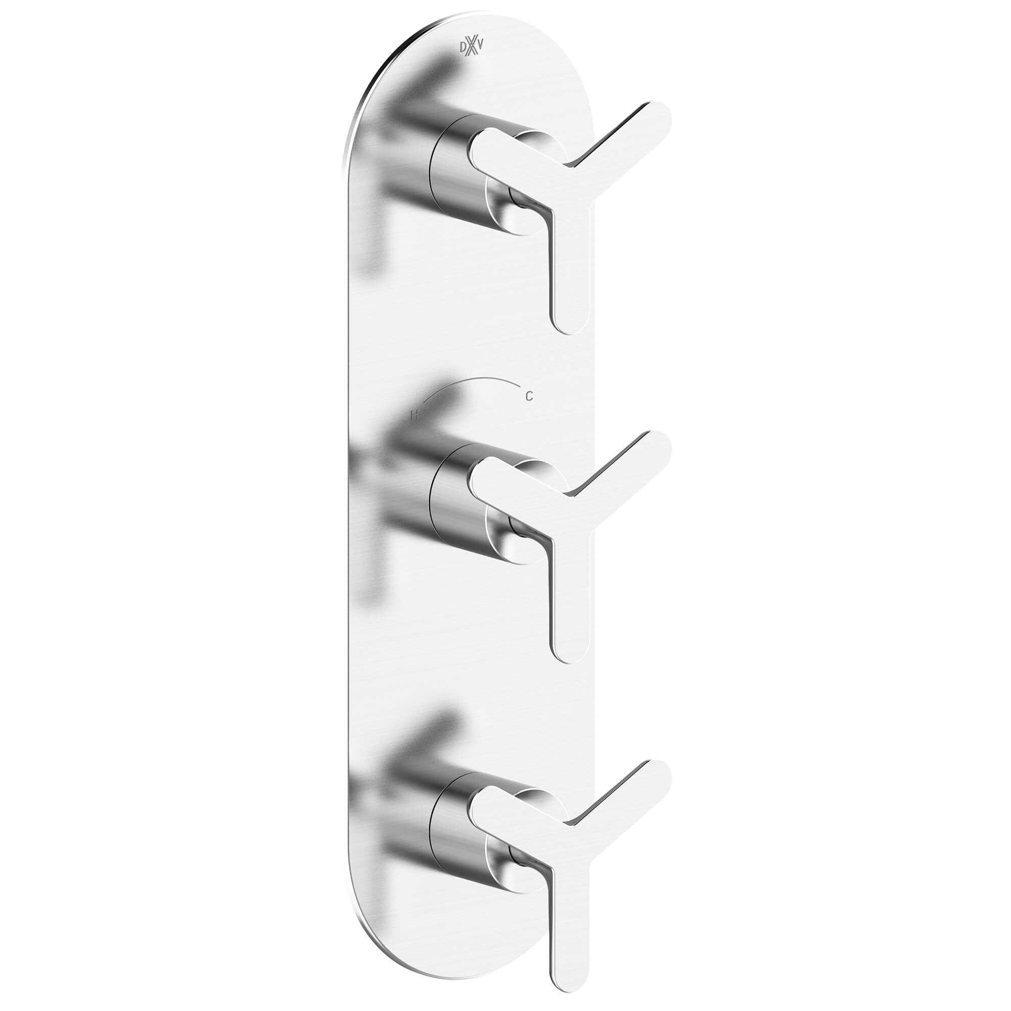 Percy 3-Handle Thermostatic Shower Valve Trim with Tri-Spoke Handles