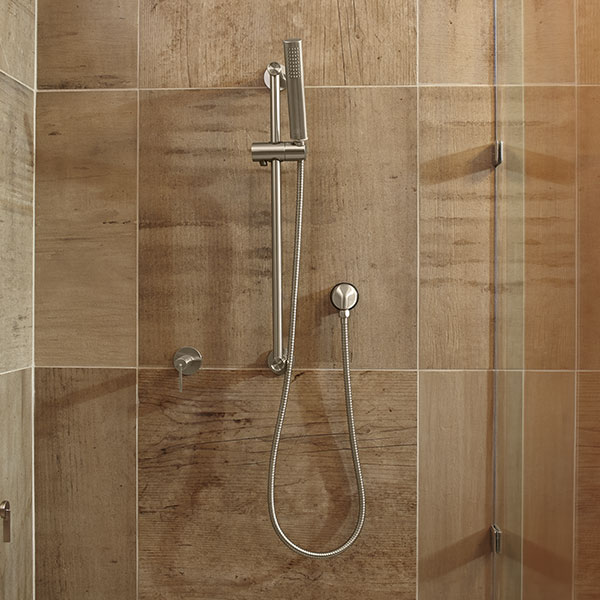 DXV Percy Personal Shower Set with Hand Shower Room Scene - Brushed Nickel